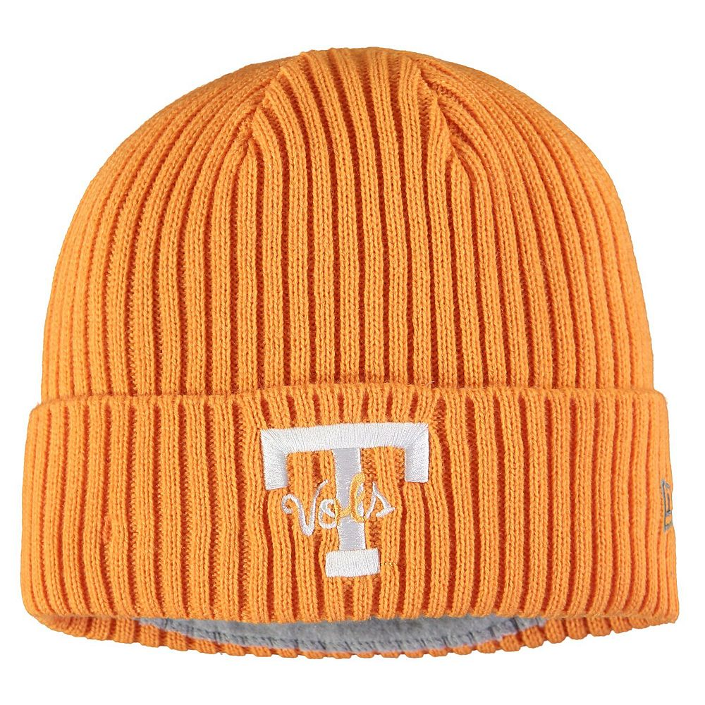 Men's New Era Tennessee Orange Tennessee Volunteers Vintage Core Classic Cuffed Knit Hat