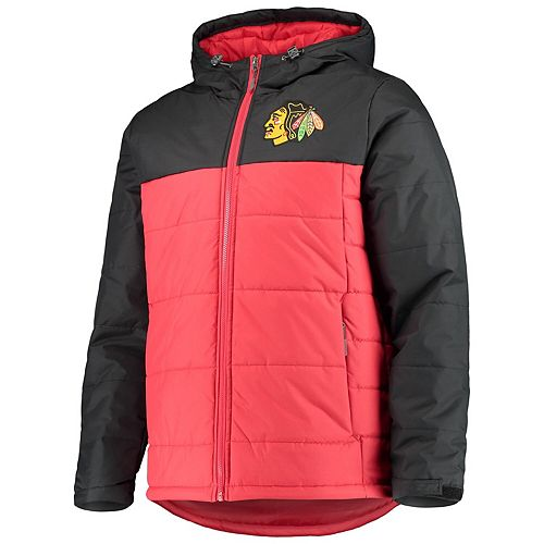 Men's G-III Sports by Carl Banks Red/Black Chicago Blackhawks Exploration Polyfill Hooded Parka
