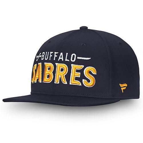 Men's Fanatics Branded Navy Buffalo Sabres Depth Emblem Snapback Adjustable Hat