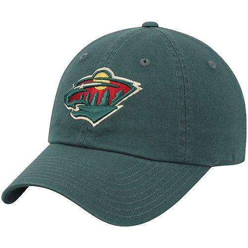 Men's American Needle Green Minnesota Wild Blue Line Slouch Adjustable Hat