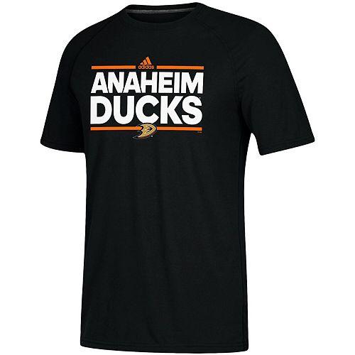 Men's adidas Black Anaheim Ducks Dassler climalite Performance Raglan T-Shirt