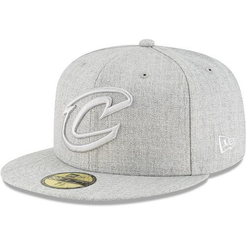 Men's New Era Gray Cleveland Cavaliers Twisted Frame 59FIFTY Fitted Hat
