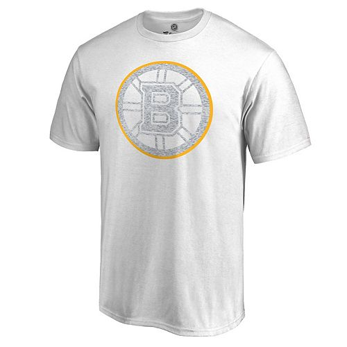 Men's White Boston Bruins WhiteOut T-Shirt