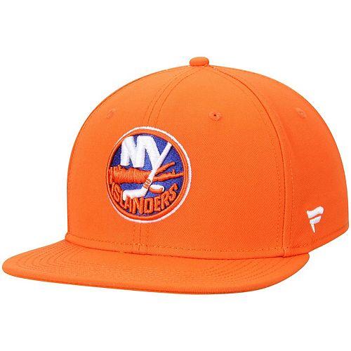 Men's Fanatics Branded Orange New York Islanders Emblem Snapback Adjustable Hat