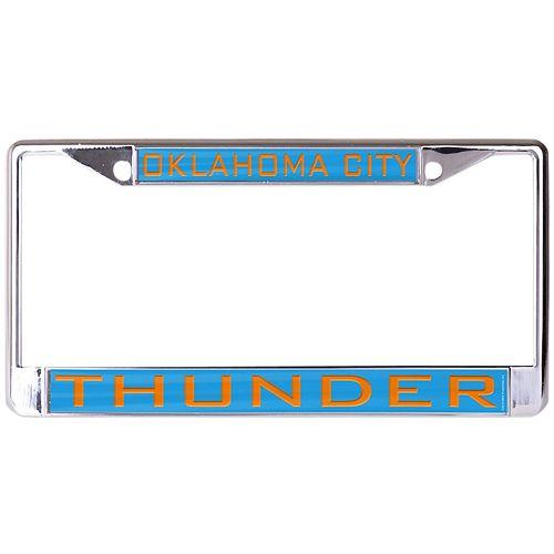 WinCraft Oklahoma City Thunder Laser Inlaid Metal License Plate Frame