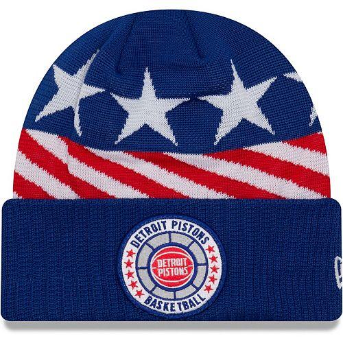 Men's New Era Blue Detroit Pistons 2018 Tip Off Series Cuffed Knit Hat