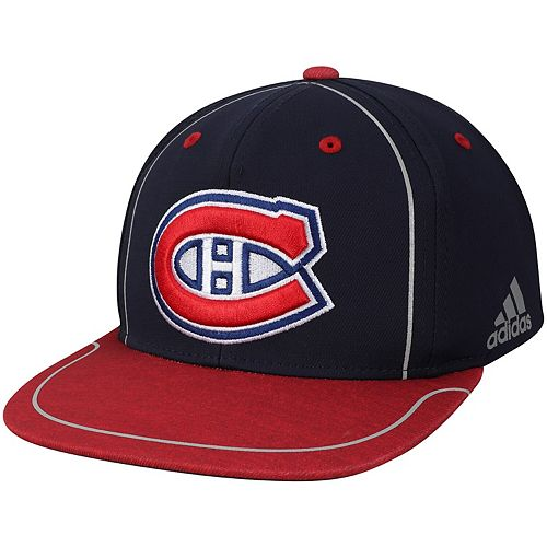 Men's adidas Navy/Red Montreal Canadiens Bravo Adjustable Snapback Hat