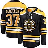Youth Fanatics Branded Patrice Bergeron Black Boston Bruins Home Breakaway Player Jersey