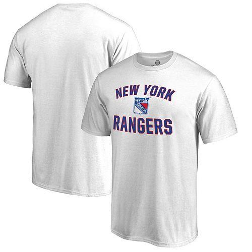 Men's White New York Rangers Victory Arch T-Shirt