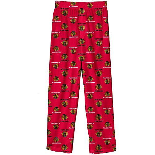 Preschool Red Chicago Blackhawks Team Logo Printed Pajama Pants