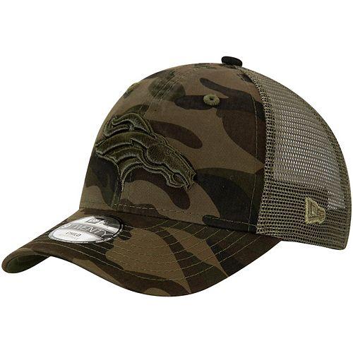 Preschool New Era Camo/Olive Denver Broncos Tonal 9TWENTY Adjustable Trucker Snapback Hat