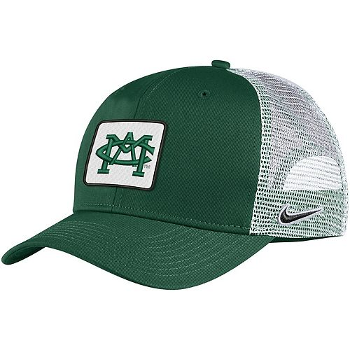 Men's Nike Green Michigan State Spartans Classic 99 Alternate Logo Trucker Adjustable Snapback Hat