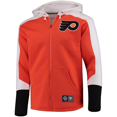Men's Fanatics Branded Orange Philadelphia Flyers Breakaway Full-Zip Hoodie