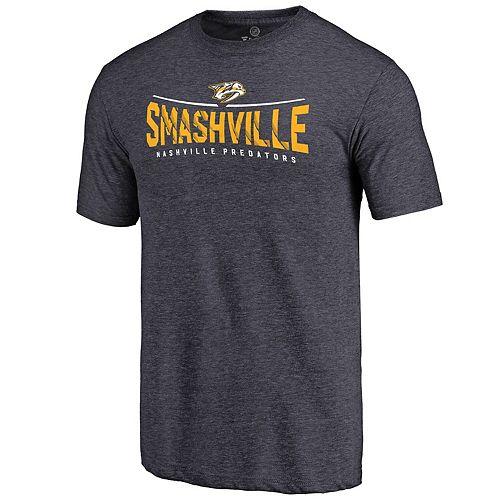 Men's Fanatics Branded Navy Nashville Predators Hometown Collection Tri-Blend T-Shirt