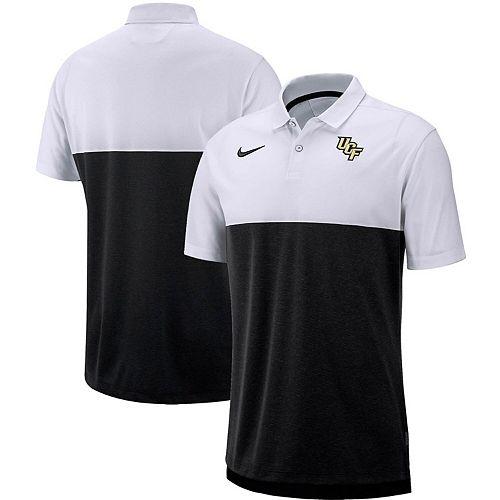 Men's Nike Black/White UCF Knights Sideline Early Season Performance Polo