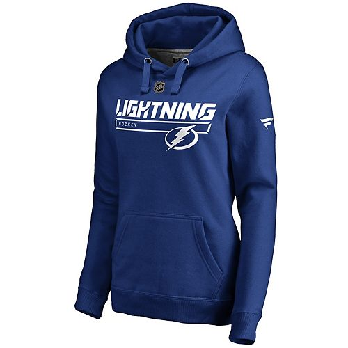 Women's Fanatics Branded Blue Tampa Bay Lightning Authentic Pro Rinkside Prime Pullover Hoodie