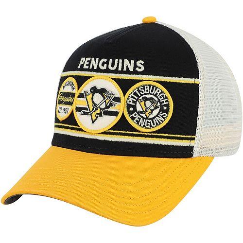 Men's American Needle Black/Gold Pittsburgh Penguins Domino Adjustable Trucker Hat