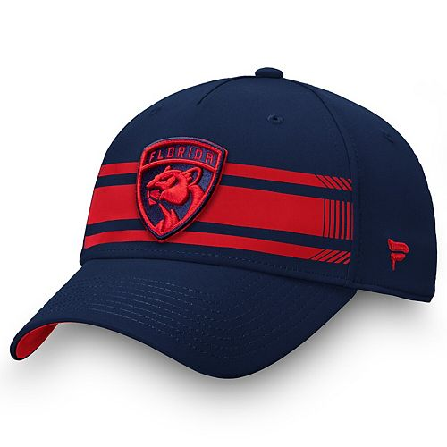 Men's Fanatics Branded Navy/Red Florida Panthers Iconic Stripe Speed Flex Hat