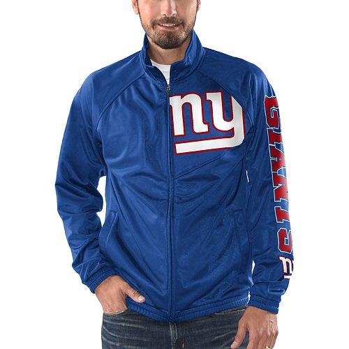 Men's G-III Sports by Carl Banks Royal New York Giants Synergy Track Full-Zip Jacket