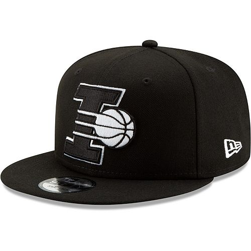 Men's New Era Black Indiana Pacers Back Half Series 9FIFTY Adjustable Snapback Hat