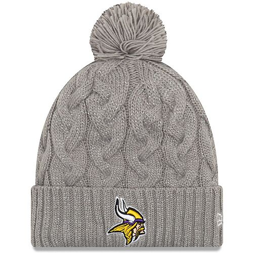 the sale of shoes exclusive range new products Women's New Era Gray Minnesota Vikings Swift Cable Cuffed Knit ...