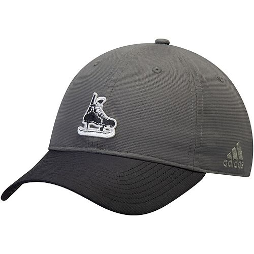 Men's adidas Gray/Black Vegas Golden Knights Coaches Two-Tone Skate Slouch Adjustable Hat
