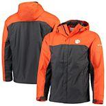 Men's Columbia Orange/Charcoal Clemson Tigers Glennaker Storm Full-Zip Jacket