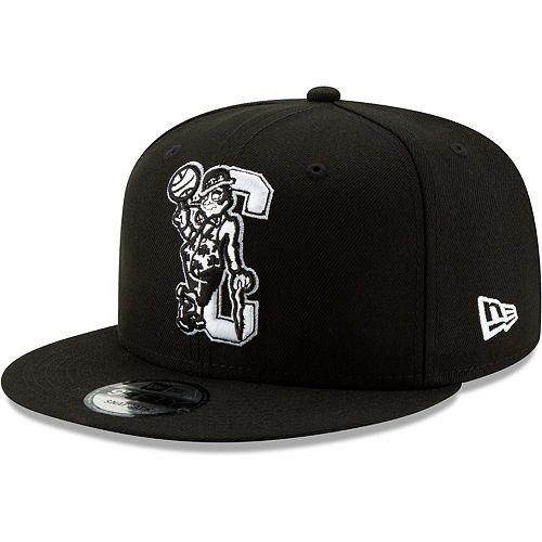 Men's New Era Black Boston Celtics Back Half Series 9FIFTY Adjustable Snapback Hat