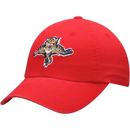 Men's American Needle Red Florida Panthers Blue Line Slouch Adjustable Hat