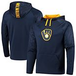 Men's Fanatics Branded Navy Milwaukee Brewers Defender Mission Primary Logo Pullover Hoodie