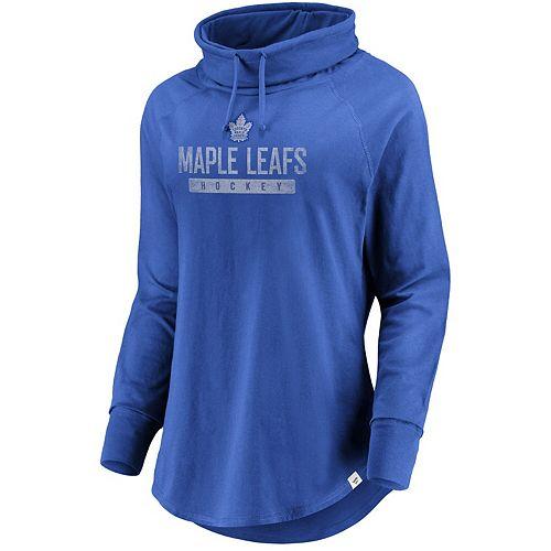 Women's Fanatics Branded Blue Toronto Maple Leafs Be A Pro Cowl Neck Sweatshirt
