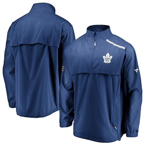 Men's Fanatics Branded Blue/White Toronto Maple Leafs Authentic Pro Rinkside Full-Zip Jacket