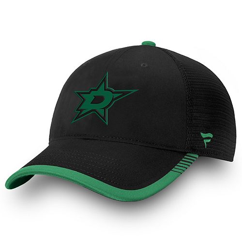 Men's Fanatics Branded Black Dallas Stars Iconic Team Pop Trucker Adjustable Snapback Hat
