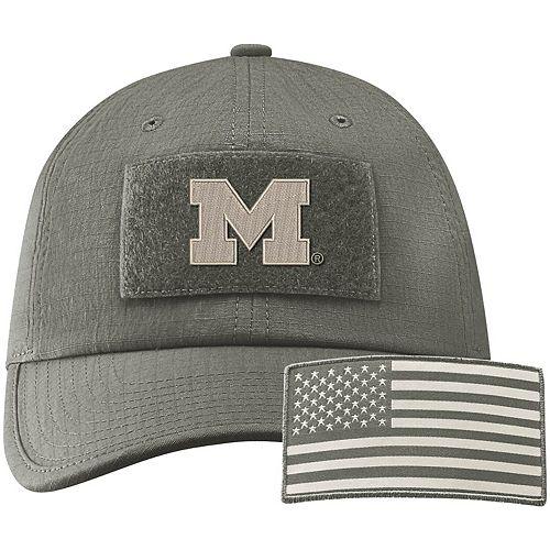 Men's Nike Green Michigan Wolverines Tactical Heritage 86 Team Performance Adjustable Hat