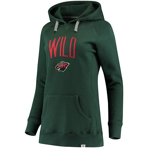 Women's Fanatics Branded Green Minnesota Wild Indestructible Pullover Hoodie