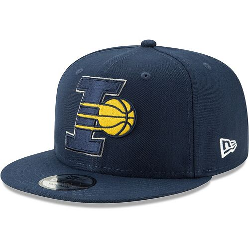 Men's New Era Navy Indiana Pacers Back Half 9FIFTY Adjustable Hat