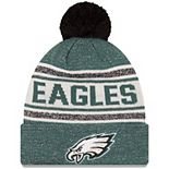 Youth New Era Midnight Green Philadelphia Eagles Toasty Cover Pom Cuffed Knit Hat