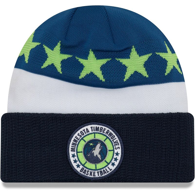 Men's New Era Blue Minnesota Timberwolves 2018 Tip Off Series Cuffed Knit Hat