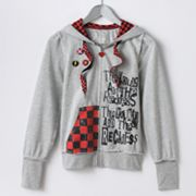 Abbey Dawn Patch Checkered Hoodie