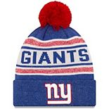 Youth New Era Royal New York Giants Toasty Cover Pom Cuffed Knit Hat