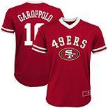 Youth Jimmy Garoppolo Scarlet San Francisco 49ers Player Name & Number Fashion Mesh V-Neck Top