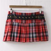 Abbey Dawn Pleated Plaid Skirt
