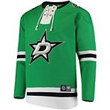 Men's Fanatics Branded Kelly Green Dallas Stars Breakaway Lace Up Pullover Sweatshirt