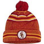 Men's New Era Cardinal USC Trojans On Field Sport Cuffed Knit Hat
