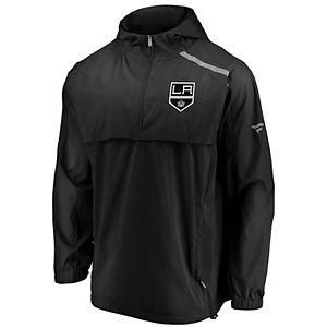 Men's Fanatics Branded Black Los Angeles Kings Authentic Pro Rinkside Anorak 1/4-Zip Jacket