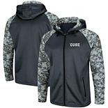 Men's Colosseum Charcoal/Camo Syracuse Orange OHT Military Appreciation Digi Camo Raglan Full-Zip Hoodie