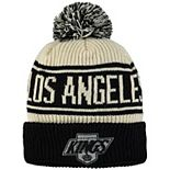 Men's Fanatics Branded White Los Angeles Kings True Classic Z Route Cuffed Knit Hat with Pom