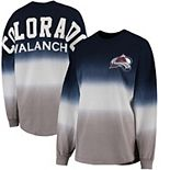 Women's Fanatics Branded Navy/Gray Colorado Avalanche Ombre Spirit Jersey Long Sleeve Oversized T-Shirt