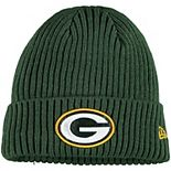 Youth New Era Green Green Bay Packers Core Classic Cuffed Knit Hat