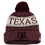 Youth New Era Maroon Texas A&M Aggies Sport Knit Hat with Pom
